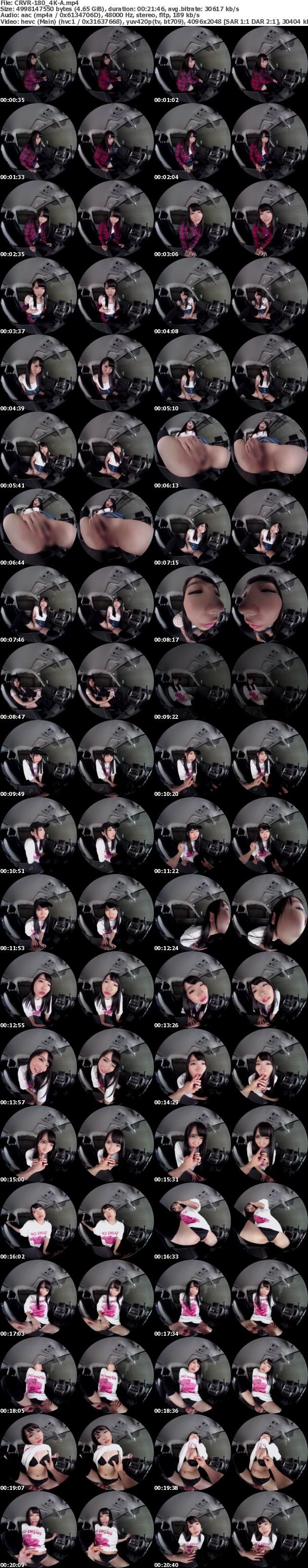 (VR) (4K) CRVR-180 枢木あおい カーセックスVR「ここでセックス…しよや」黒髪かわいい敏感ボディのえちえちなバイトと強●車中不倫!