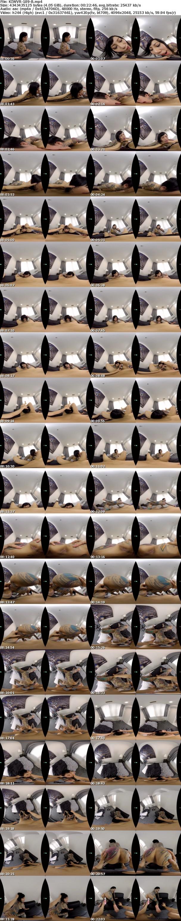 (VR) KIWVR-189 真性マゾ【全身タトゥーの痴女系女子】に責めてもらう気マンマンだったのに…【ほんとはドM】で乱暴なプレイをオネダリ!要望通りにイラマ、首絞め、スパンキング、玩具責めをしたら感じまくって絶頂連発!側位、騎乗位、座位、バック、… 桜雅凛