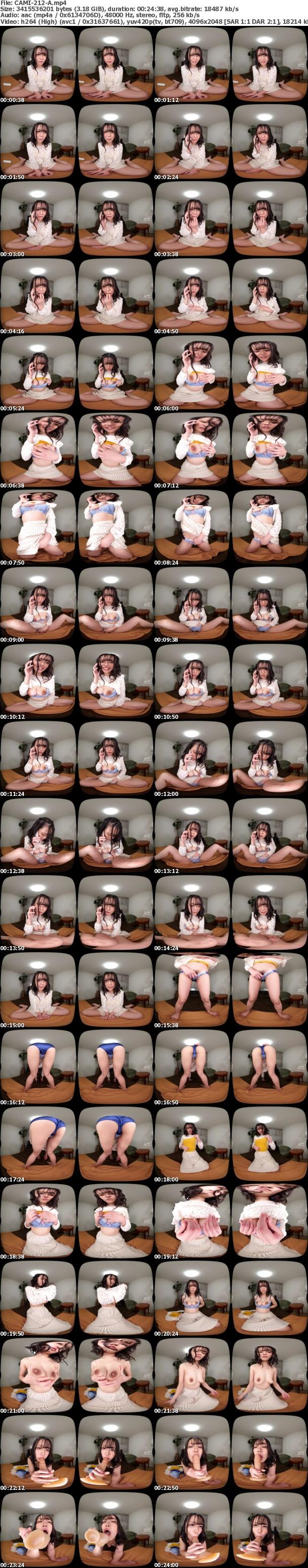(VR) CAMI-212 はじめてのVR~真性ド絶倫22歳シングルマザーがVR初体験!フェロモン全開で生々しく悶え愉しむ~藍川美穂