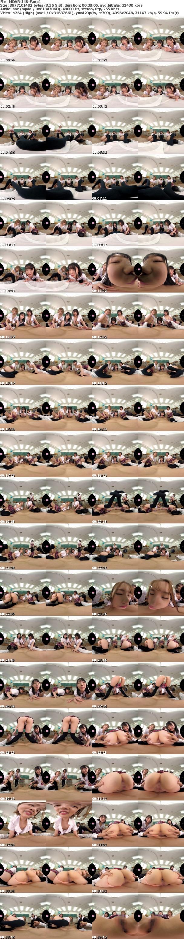 (VR) MDVR-148 ミニスカニーハイハイスクールVR!! 絶対領域とパンチラでクラスメイトからモテまくりヤリまくり学園天国!!