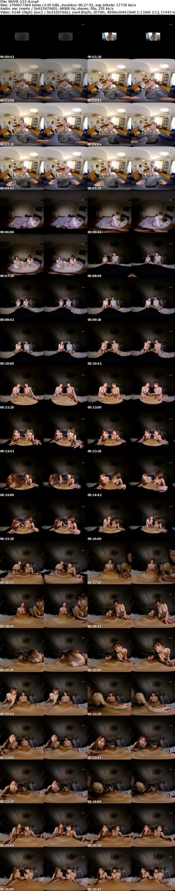 (VR) NHVR-132 「一週間だけ泊めてください!」家を追い出された巨乳W痴女の密着乳首舐めでイカされまくった緊急同居生活
