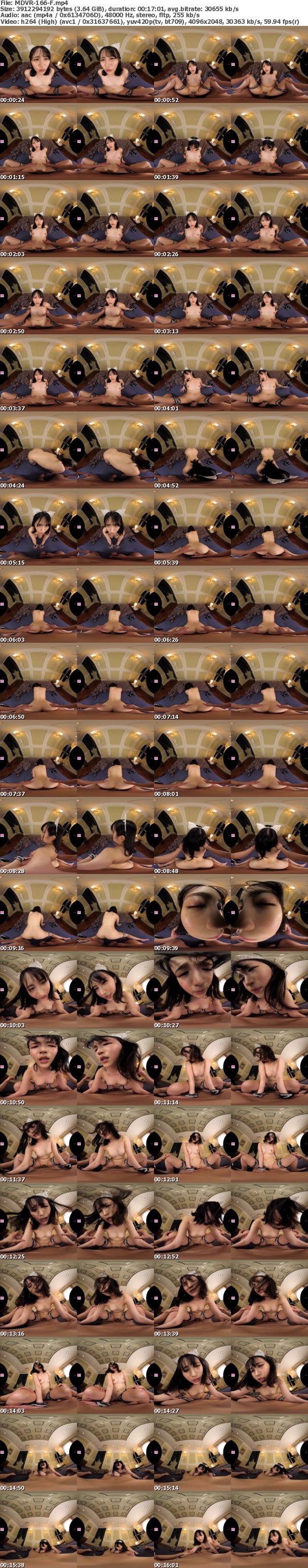 (VR) MDVR-166 【HQ超高画質】小野六花VR第2弾!フェラでもマ●コでも射精シーンたっぷり2SEX長尺148分! 洗体・添い寝手コキなどアナタの為に尽くすりっかたん!王様気分で美少女メイドをご堪能ください!