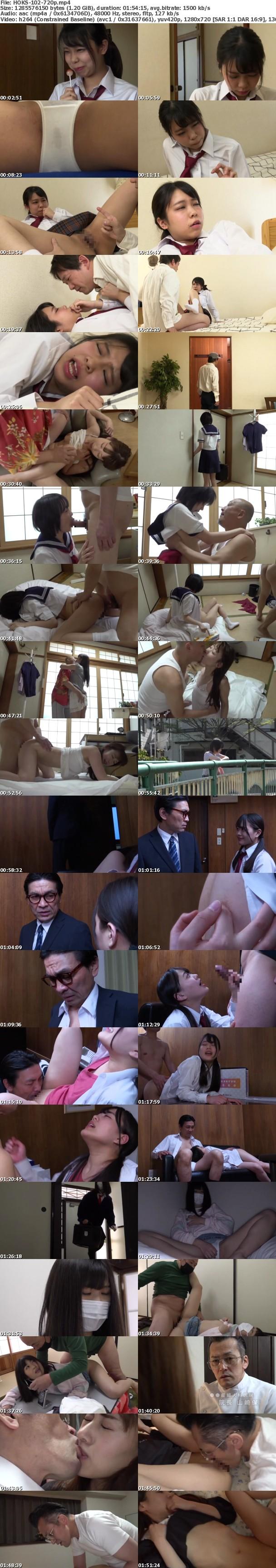 (HD) HOKS-102 わたしとおじさんの不純な性交