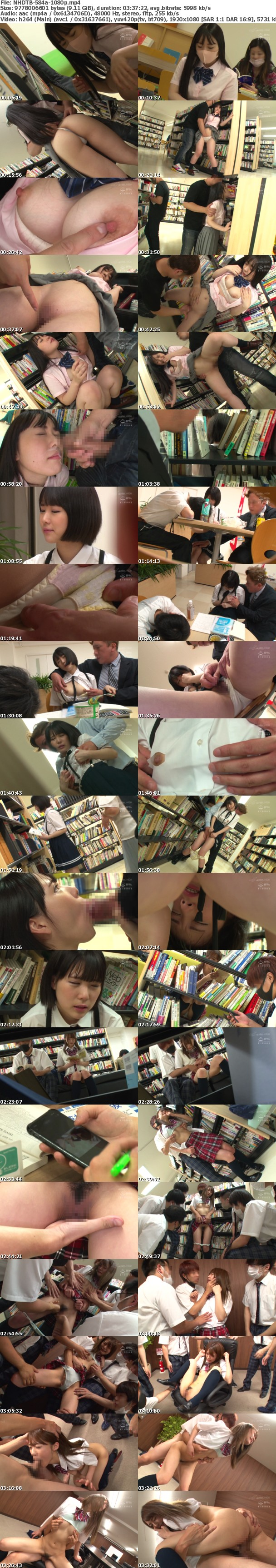 (Full HD) NHDTB-584 図書館で声も出せず糸引くほど愛液が溢れ出す敏感娘25 乳首開発でイキまくる女子○生2枚組SP